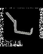 Dakgootbeugel met tapgat voor zinken bakgoot