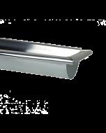 Zinken mastgoot met gesoldeerd eindstuk 1-6 meter - met kraal