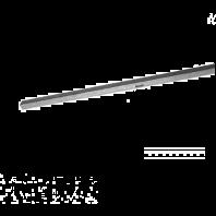 Hoeklijn voor dakgootbeugels met tapgat - 3 meter