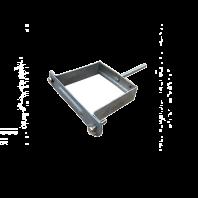 Verzinkte bevestigingsbeugel vierkant nismodel met slagpen