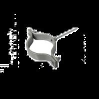 Bevestigingsbeugel voor stalen ondereind Ø80mm