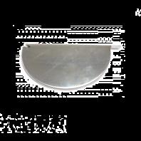 Zinken eindstuk voor mastgoot zonder kraal - Links