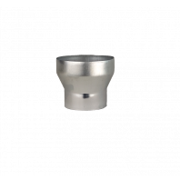Zinken verloopstuk voor zinken regenpijp Ø 100mm - Ø 80mm