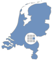 Kaart montage verzorgingsgebied Zinkbouwmarkt.nl